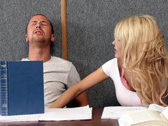 Kayla Kayden teased her classmate right in the classroom