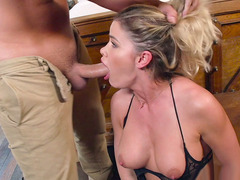 Jessa Rhodes got hair pulled and face fucked by Keiran Lee