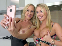 Zoey Taylor and Brandi Love get topless and send Zoey's boyfriend some naughty pics