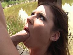Regina Crystal gets her mouth fucked by Mugur's big cock