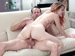 Spanish Amarna Miller eagerly rides his big hard cock