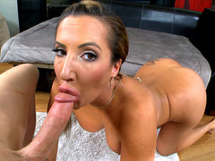 Richelle Ryan sucking and tit fucking that huge dick