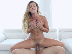 Kelsi Monroe hops on top and fills her ass hole with dick
