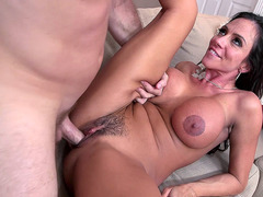 Ariella Ferrera gets her hairy Colombian pussy pounded
