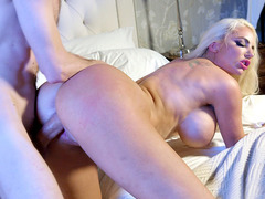 Nicolette Shea enjoys Daddy D's big cock penetrating her twat