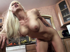 Holly Heart fucked in her favorite place her kitchen