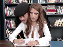 Dillion Carter gets her boobs squeezed by Xander at school
