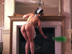 Maid Aletta Ocean cleaning the appartment and seducing VIP guest