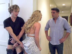 AJ Applegate fucking with two guys trying to keep them hidden from one another
