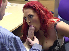 Nasty british whore Paige Delight sucking meaty pole