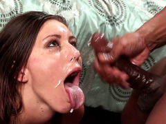 Rilynn Rae gets fucked doggie and receives facial