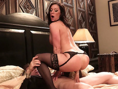 Warm looking MILF Kendra Lust riding him cowgirl style