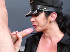 Jayden Jaymes sucked and tit fucked his massive cock at work