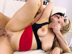 Busty Natasha Nice getting trimmed pussy slammed in spoon