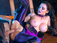 Widowmaker Aletta Ocean taking Reaper's monster cock