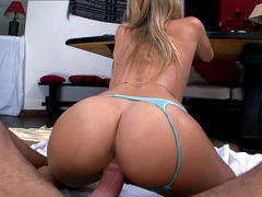 Big ass chick Natalia Starr fucks his wide cock POV style
