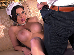 Aletta Ocean exhausts the dick with her mouth
