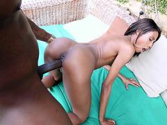 Adriana Malao loves to take that black piston hard and raw