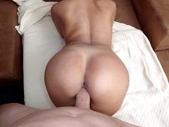 Big ass Colombian slut Bianka takes stiff cock doggy style