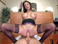 Perfectly breasted girl Peta Jensen riding hard dong