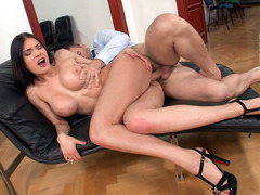 Big-titted slut Kitana Lure in high heels gets her tight ass pounded