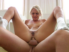 Young babe Ivana Sugar riding hard cock anal reverse cowgirl