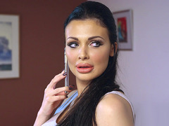 Aletta Ocean is trying on a new sexy outfit when Danny D peeps in on her