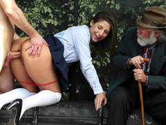 Abella Danger getting fucked by a stranger in front of her Grandpa