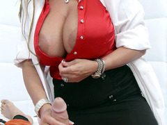 Dr. Holly Halston started stroking and sucking his shlong