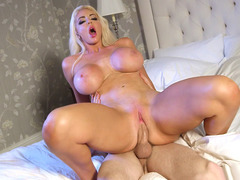 Nicolette Shea gets pussy drilled in reverse cowgirl position