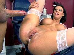 Peta Jensen took a hot sticky mess of sperm left in her hatch