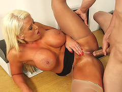 Big tits teacher Alura Jenson fucks him on the desk