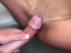 Slim girl Nadia Valdez gets her tight shaved pussy destroyed