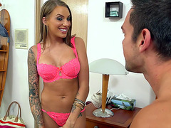 Juelz Ventura coming out of the bathroom and seducing him