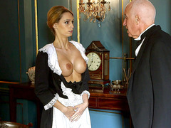 The perverts of Downton Grabby groping Erica Fontes's brilliant tits