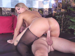 Big booty Candice Dare anally riding the hard prick