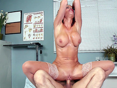 Dr. Veronica Avluv riding cock in the hospital