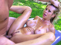 Alexis Fawx has her stepson fill her pussy with his throbbing cock
