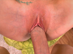 Christie Stevens gets her pink shaved pussy pounded out