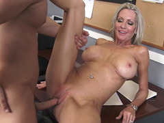 Busty boss Emma Starr gets her crack pounded on her desk