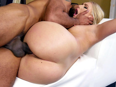 Big assed AJ Applegate taking raw black dick in her flawless pussy