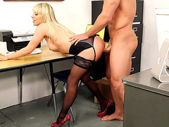 Ashley Fires plowed hard and deep standing up