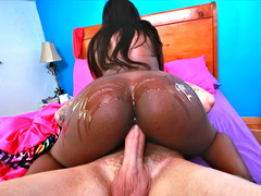 Jezabel Vessir rding big white cock for the first time