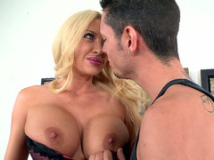 Summer Brielle whipped out her huge succulent tits for him