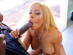 Luna Star somehow fits that black bazooka in her throat