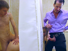 Lucia Love sucks her husband's cock while Danny sneakily fucks her