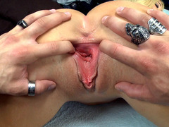 Summer Brielle gets her pussy stretched as she takes it doggie