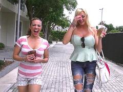 Curvy girls Summer Brielle and Kylie Rogue go around town