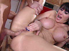 Eva Karera anal fucked on the kitchen table