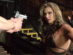 Cock hungry bitch Esperanza Gomez caught by Danny D
